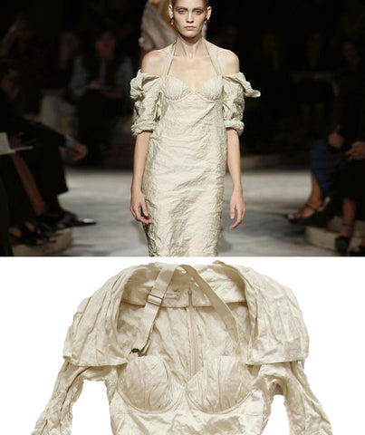 PRADA SS2009 Bustier Shawl Collar Dress M