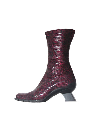 Purple Structural Heel Boots 38