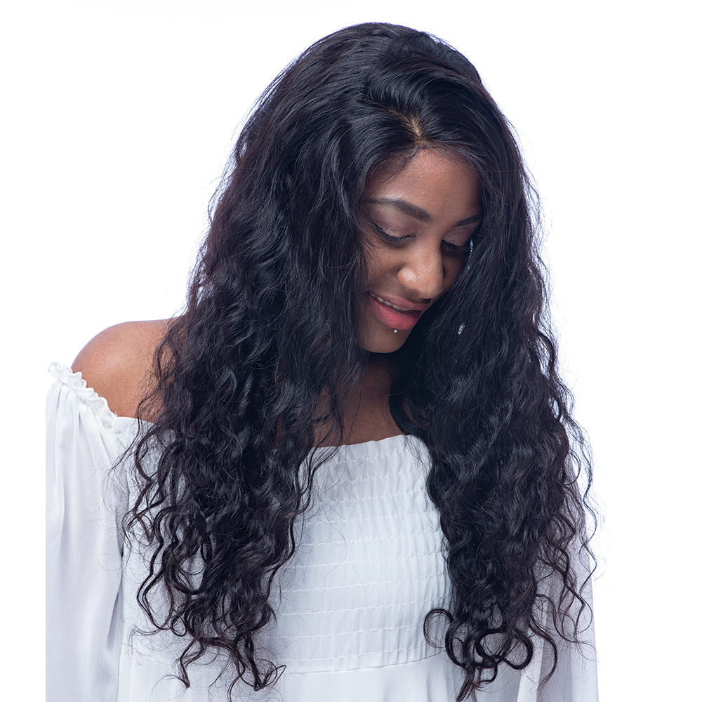 Preplucked 360 Lace Frontal Wig Human Virgin Hair Beyonce Wave 150% Density