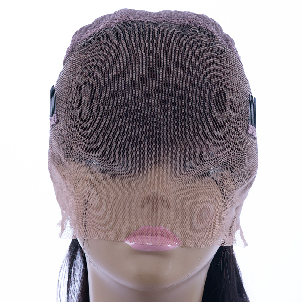 Pre-Plucked Hairline 360 Lace Front Brazilian Remy Human Hair Wig Yaki Hair Wig for Black Women