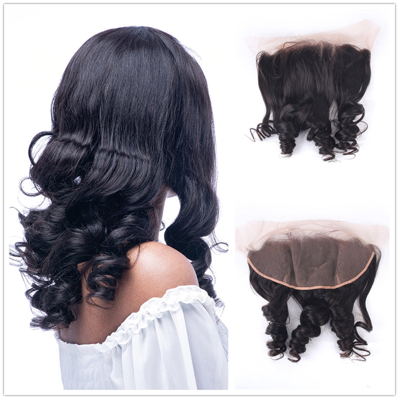 Brazilian Hair Loose Wave 13x4  Lace Frontal Closure Ear to Ear Free Part