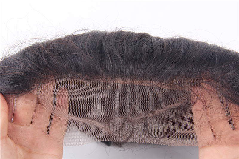 13 x 4 Lace Fontal Body Wave With Brazilian Wavy Virgin Human Hair Ear To Ear Closures