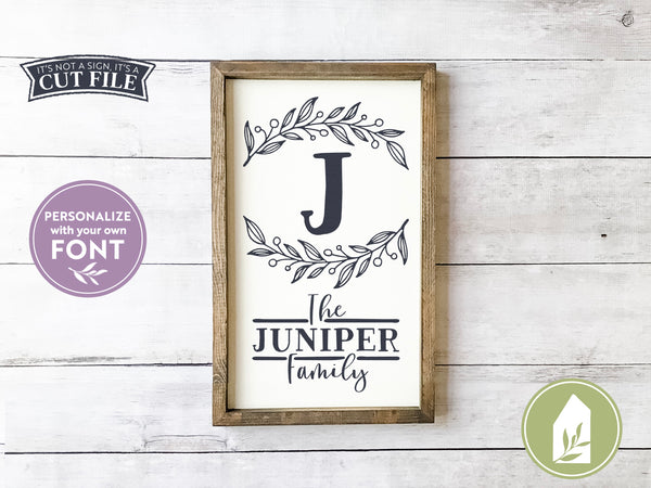 Last Name SVG Files, Farmhouse Cutting Files