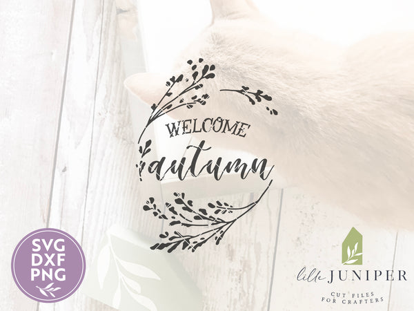 Welcome Autumn SVG Files, Farmhouse Cutting Files