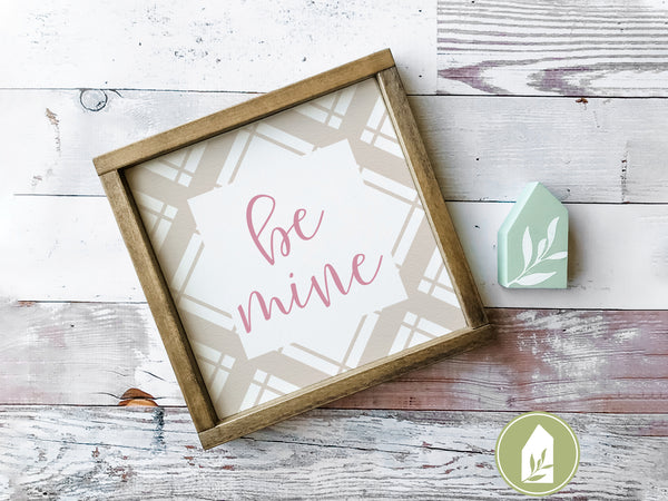 Be Mine Plaid SVG Files, Valentine's Day Cutting Files