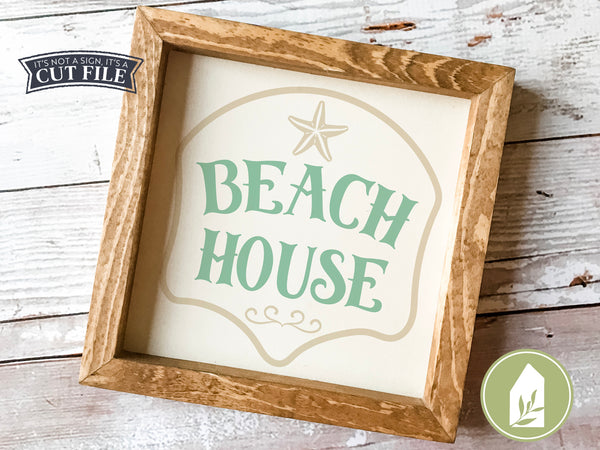 Beach House SVG Files, Summer Cut Files