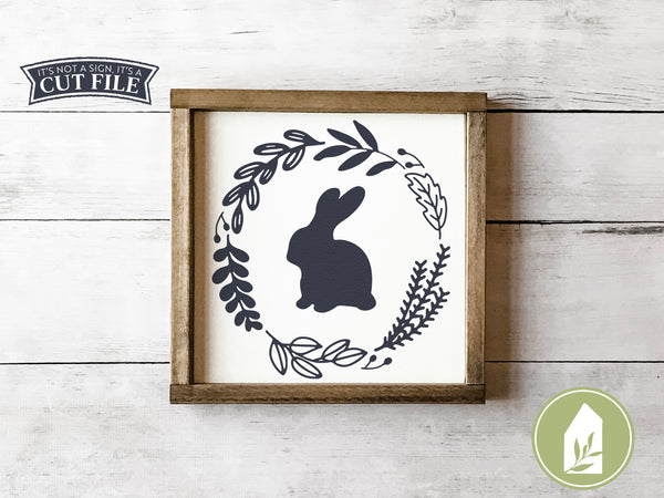 Botanical Bunny SVG Files, Easter Rabbit Cutting Files