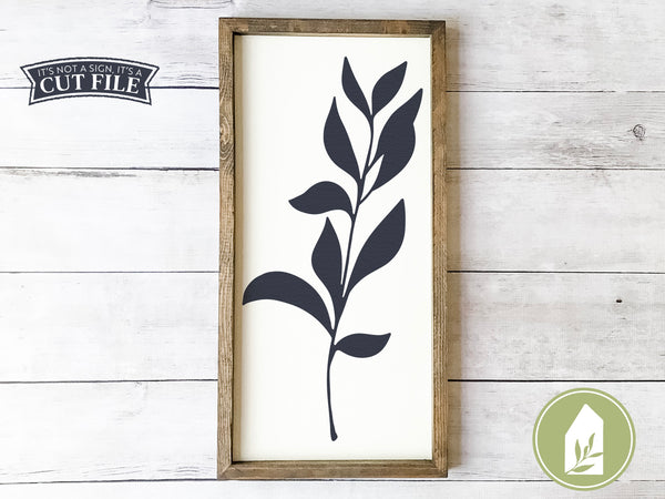 Botanical SVG Files, Farmhouse Cutting Files