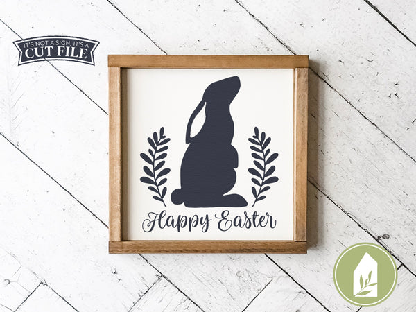 Welcome Spring Bunny SVG Files, Easter Rabbit Cut Files