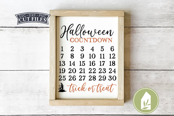 Halloween Countdown SVG Files