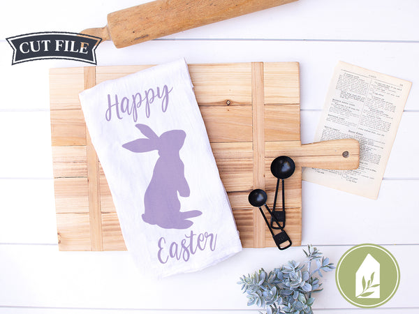 Happy Easter Bunny SVG Files, Spring Rabbit Cutting Files