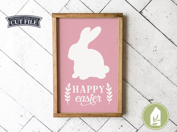 Happy Easter SVG Files, Spring Bunny Rabbit Cutting Files