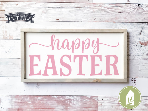 Happy Easter SVG Files, Spring Cut Files