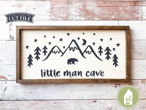 Little Man Cave SVG Files, Boy's Room Cutting Files