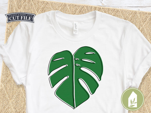 Monstera Leaf SVG Files, Tropical Cutting Files