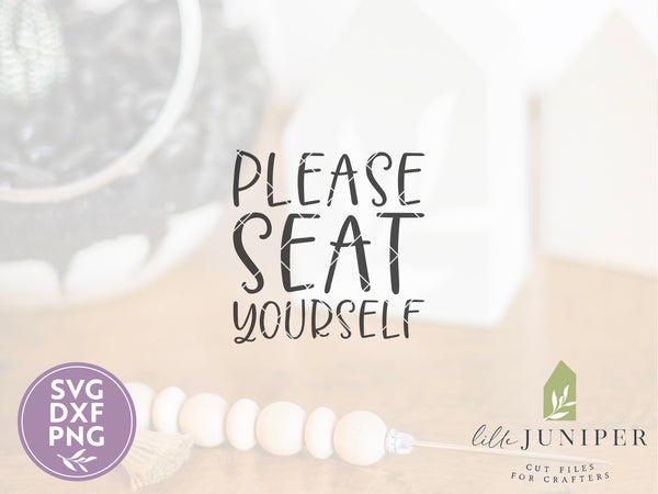 Please Seat Yourself, Funny Farmhouse Bathroom SVG Files