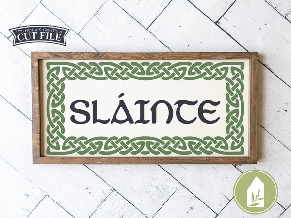 Slainte SVG Files, St. Patrick's Day Cutting Files