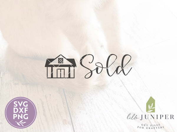 Real Estate Sold SVG Files, Real Estate Agent svg, Sold House svg
