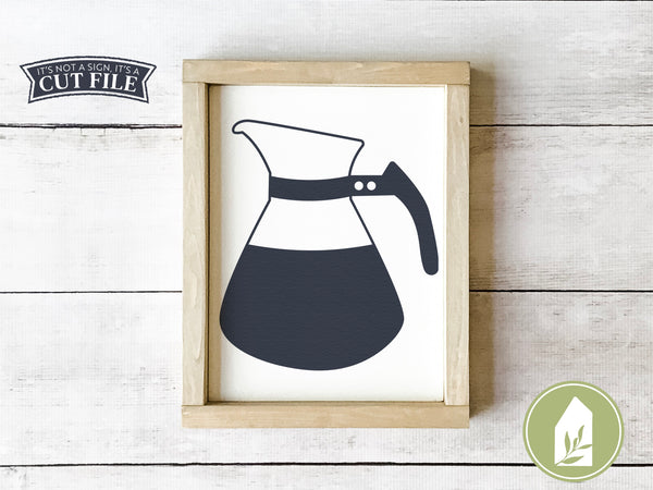 Vintage Coffee Pot SVG Files, Kitchen Cutting Files