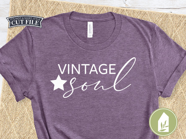 Vintage Soul Cutting Files, Shirt SVG Files