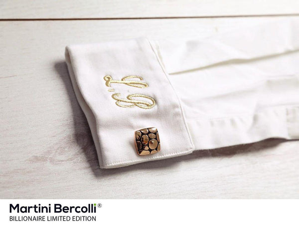 BILLIONAIRE SHIRT (WHITE & GOLD) - Martini Bercolli