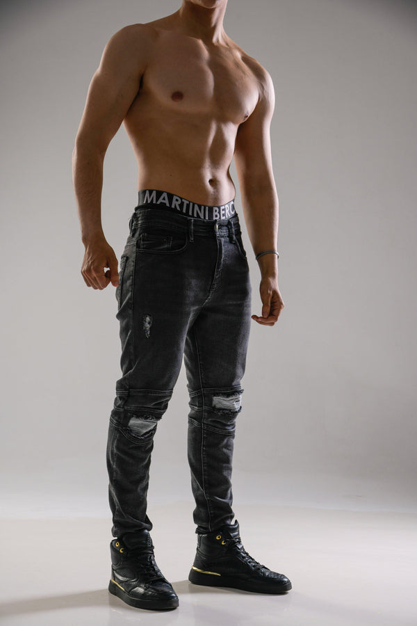 MB BIKER DENIM PANTS