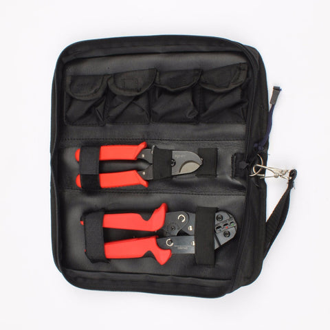 Replaceable Crimping and Cutting Tool Set