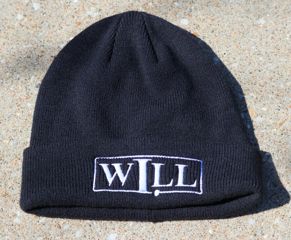 Cuffed Signature Beanie - Black
