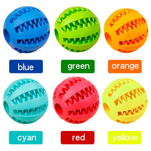 Dog treat chew toy Extra-tough Rubber Ball
