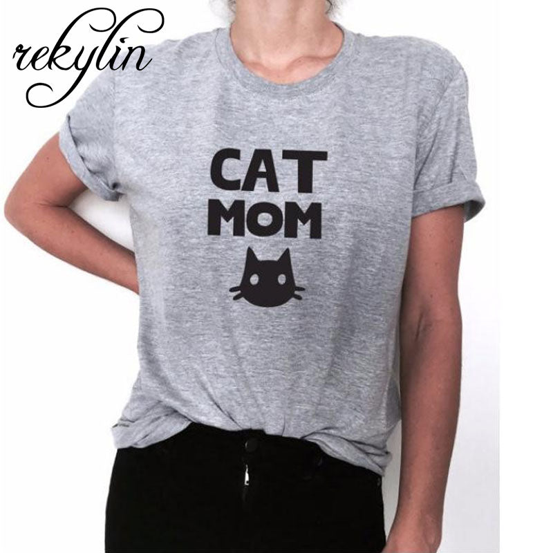 Cat mom Print Women tshirt