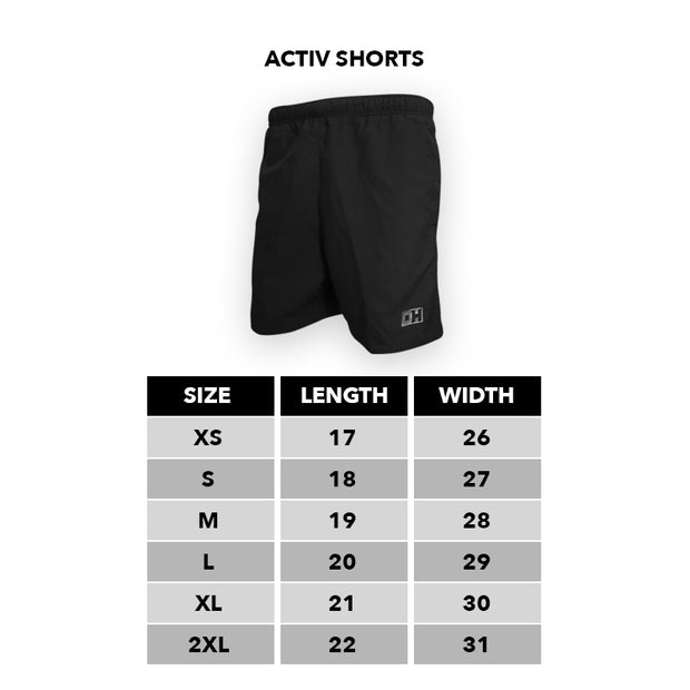 Black & Grey Thick Lines Activ Shorts