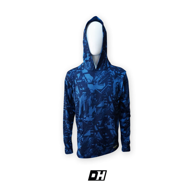 Blue Abstract Hoodie
