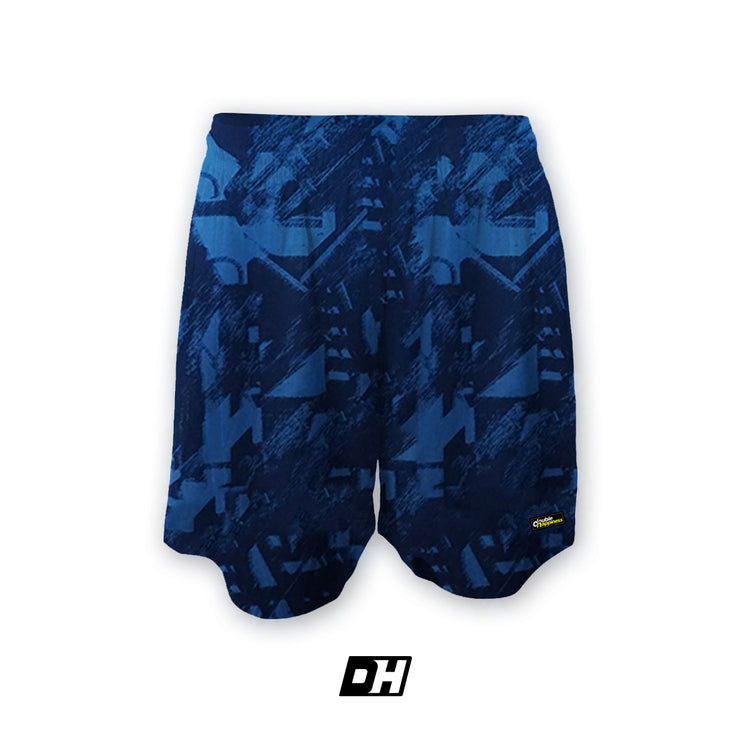 Blue Printed Fly Shorts