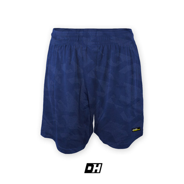 Navy Blue Edge Camo Fly Shorts