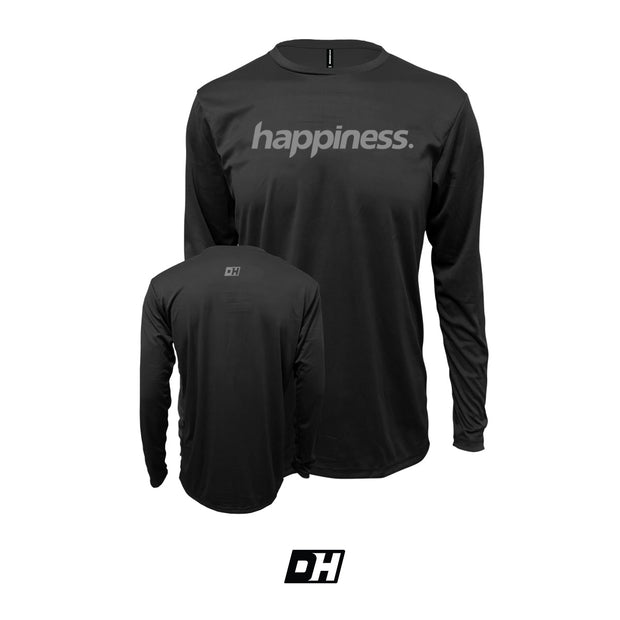 Black & Grey Happiness Long Sleeves