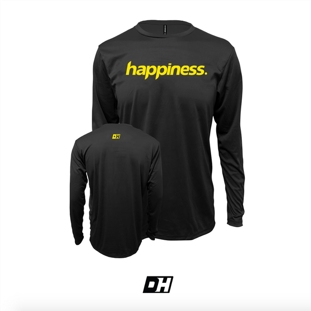 Black & Yellow Happiness Long Sleeves