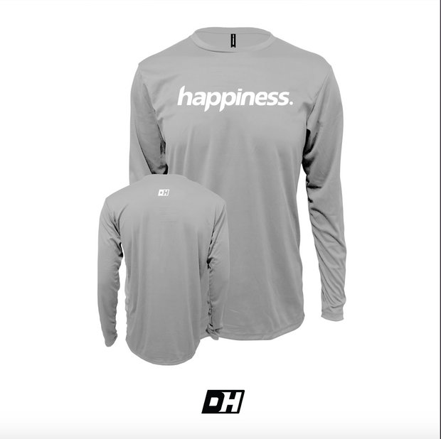 Grey Happiness Long Sleeves