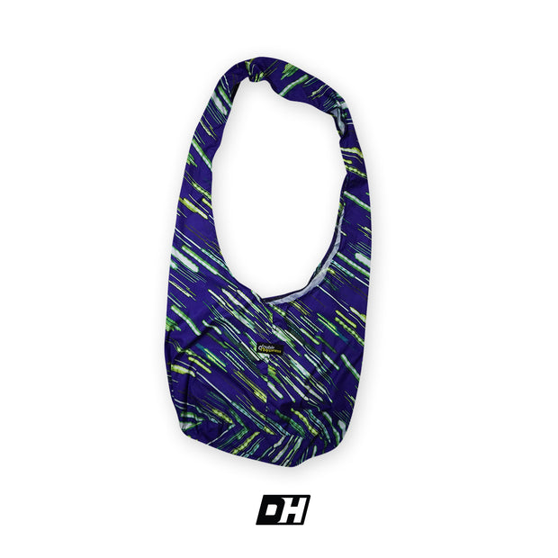Purple w/ Green Diagonals Sling Bag