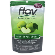 Green Apple Hard CBD Candy 100mg