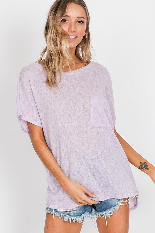 Slit Back Detail Tunic Top