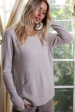 Brushed Knitted Sweater Top