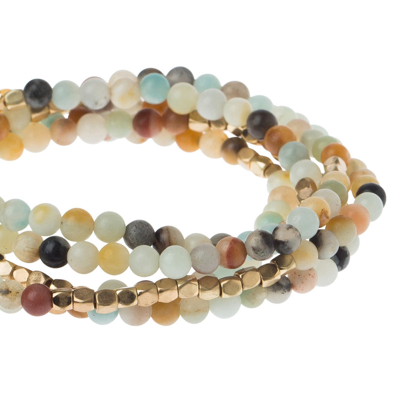 Stone Wrap Bracelet-Amazonite-Stone of Courage