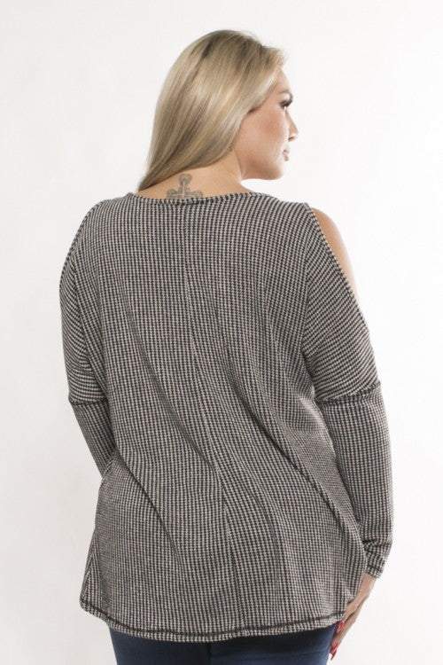 Knit Cold Shoulder Top