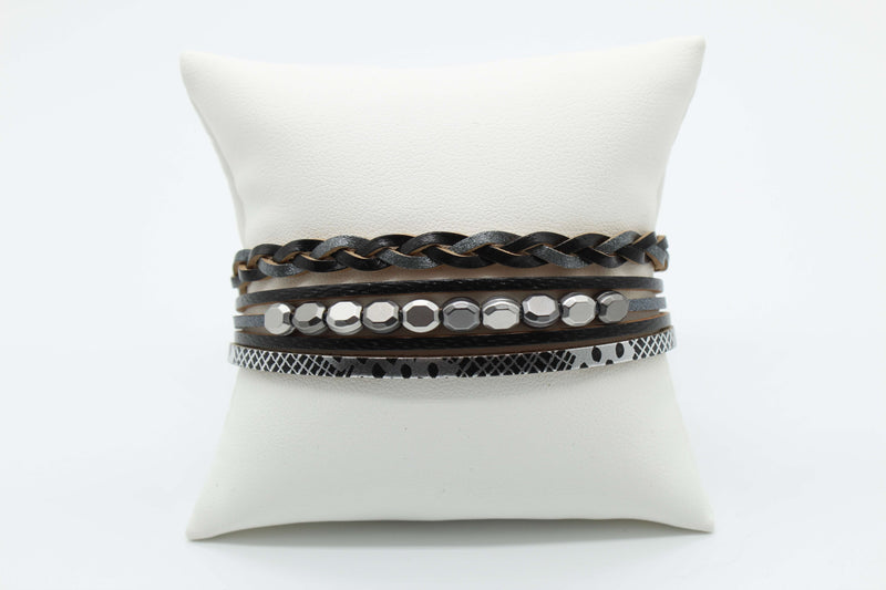 Black and Gray Magnetic Bracelet