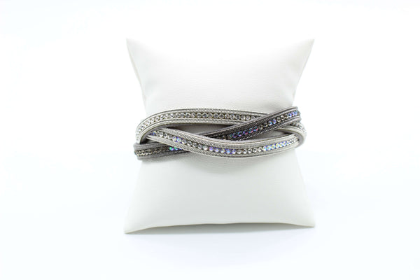 Bracelet - Three Strand Magnetic with Rhinestones