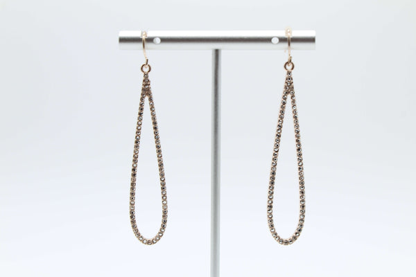 Elongated Stone Teardrop Earring