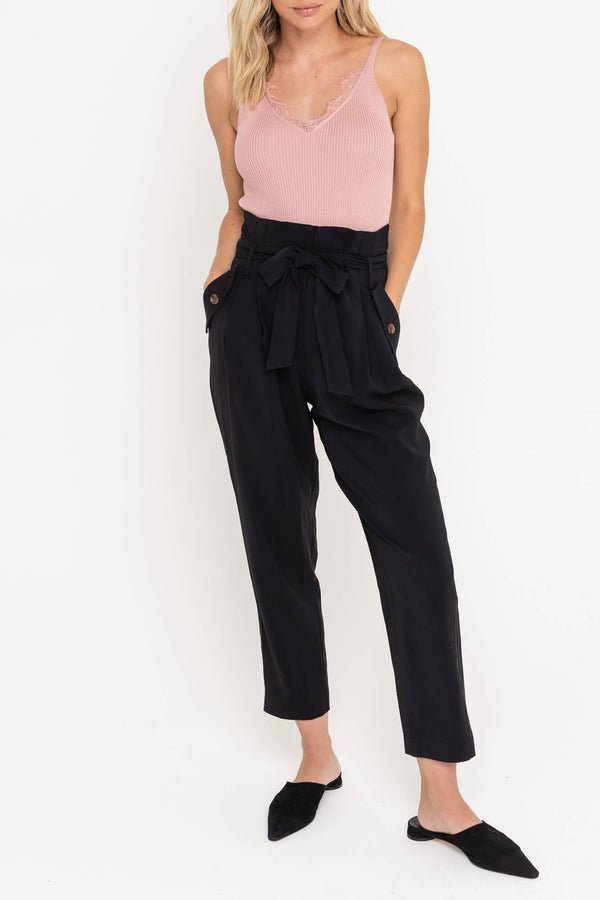 Paperbag Front Tie Trousers