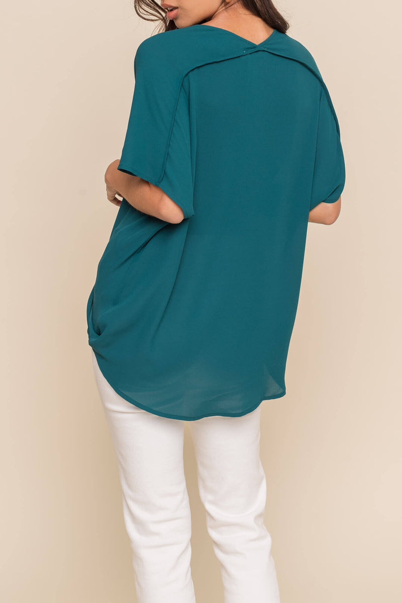 Surplice Twist Top
