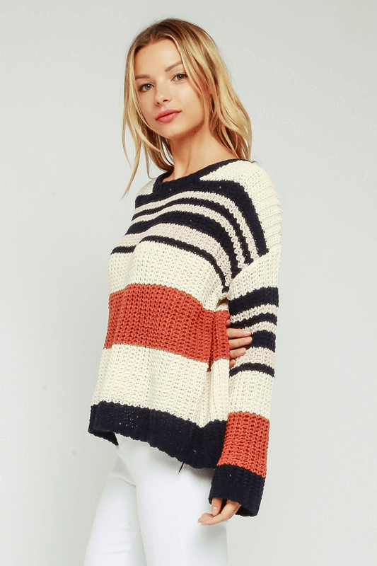 Chunky Knit Striped Sweater
