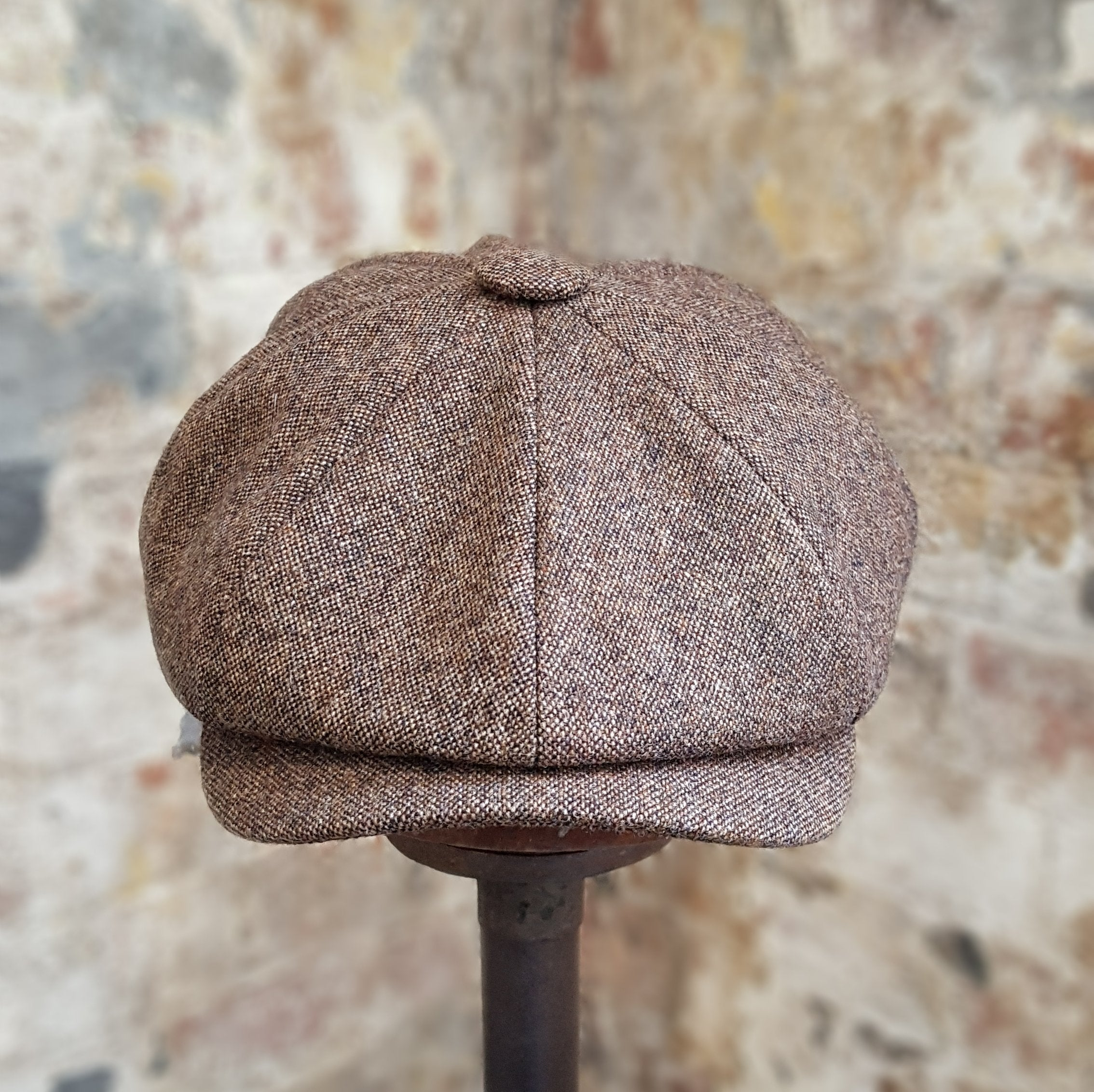 ALBERT - Brown Merino Lambswool - Bakerboy Newsboy Cap